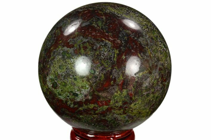 "2.3"" Polished Dragon's Blood Jasper Sphere - South Africa"