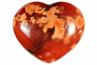 "3.2"" Colorful Carnelian Agate Heart For Sale, #121541"