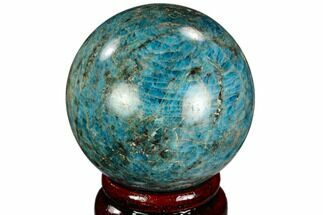 "Buy 2.2"" Bright Blue Apatite Sphere - Madagascar - #121834"