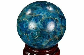 "Buy 2.07"" Bright Blue Apatite Sphere - Madagascar - #121846"