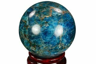 "2.2"" Bright Blue Apatite Sphere - Madagascar For Sale, #121787"