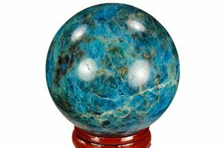 "Buy 1.9"" Bright Blue Apatite Sphere - Madagascar - #121789"