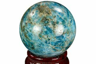 "Buy 2"" Bright Blue Apatite Sphere - Madagascar - #121813"