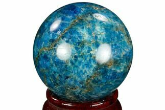 "Buy 2.0"" Bright Blue Apatite Sphere - Madagascar - #121816"