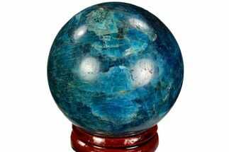 "1.8"" Bright Blue Apatite Sphere - Madagascar For Sale, #121859"