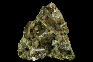 "2.5"" Yellow-Green Clinozoisite Crystal Cluster - Peru  For Sale, #121991"