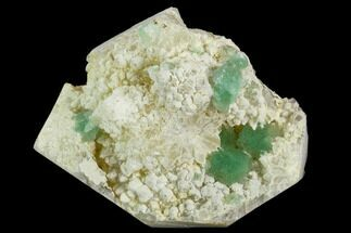 "Buy 2.5"" Green Stepped Fluorite Crystals on Quartz - China - #122020"