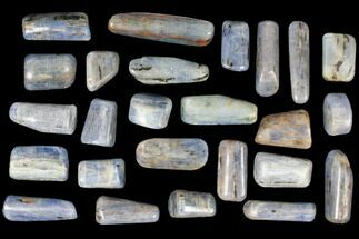 Wholesale Lot: Vibrant Blue Kyanite Tumbled Stones - 1lb - Brazil For Sale, #116249