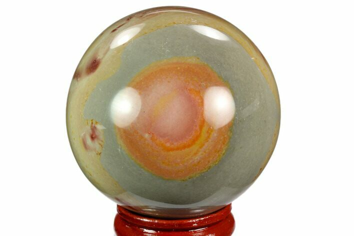 "2"" Polished Polychrome Jasper Sphere - Madagascar"