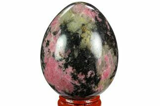 "Buy 2.6"" Polished Rhodonite Egg - Madagascar - #124111"