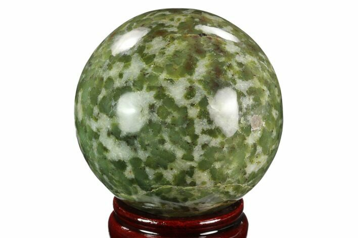 "3.05"" Polished Serpentine Sphere - Pakistan"