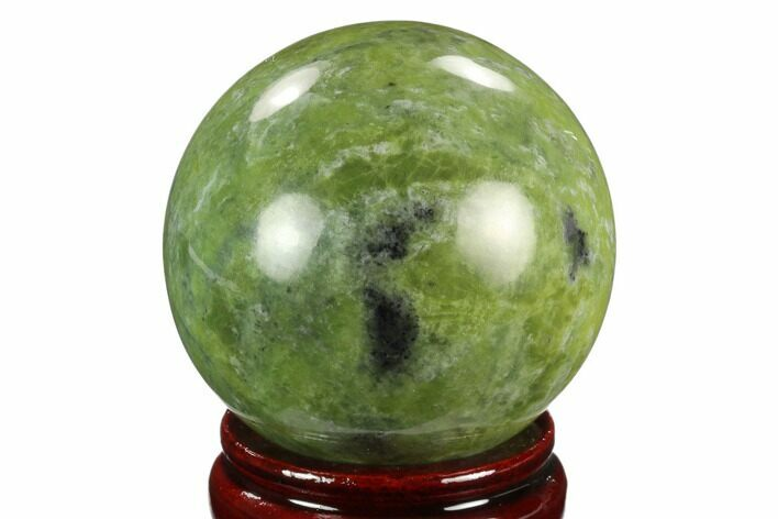 "2.65"" Polished Serpentine Sphere - Pakistan"