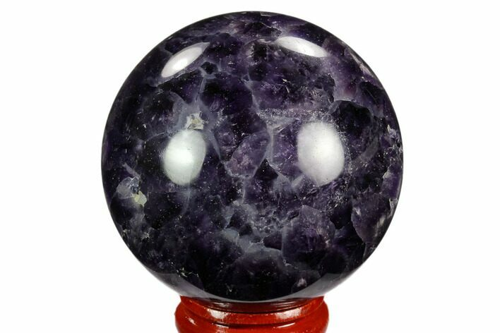 "2.15"" Polished Chevron Amethyst Sphere"