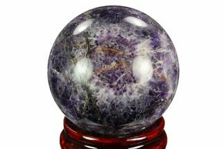 "2.5"" Polished Chevron Amethyst Sphere For Sale, #124478"