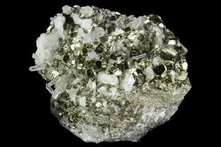 "2.7"" Gleaming Pyrite & Quartz Crystal Association - Peru For Sale, #124442"