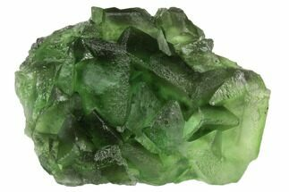 "3.3"" Green Fluorite Crystal Cluster - China For Sale, #125312"