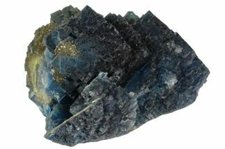 "3"" Cubic, Blue-Green Fluorite Crystals on Quartz - China For Sale, #124850"