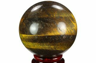 "2.75"" Polished Tiger's Eye Sphere - Africa For Sale, #124616"