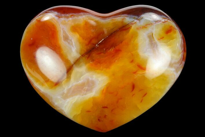 "3.1"" Colorful Carnelian Agate Heart"