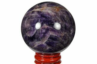 "2.25"" Polished Chevron Amethyst Sphere For Sale, #124481"