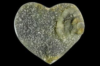 "Buy 3.4"" Green Quartz Heart - Uruguay - #123700"