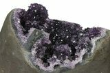 "8.6"" Tall, Amethyst Cluster With ""Stalactite"" Formations - Metal Stand - #126344-4"