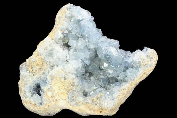 "9.9"" Sky Blue Celestine (Celestite) Geode Section - Madagascar"