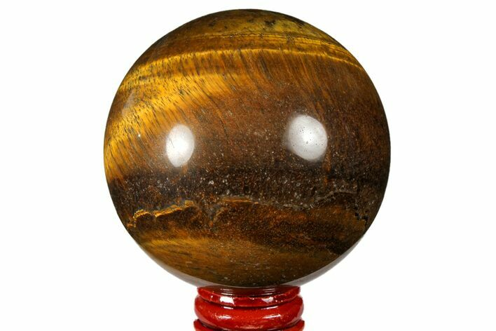 "2.9"" Polished Tiger's Eye Sphere - Africa"