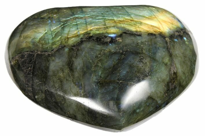 "4"" Flashy Polished Labradorite Heart - Madagascar"