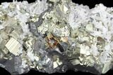 "2.8"" Pyrite, Sphalerite and Quartz Crystal Association - Peru - #126604-1"
