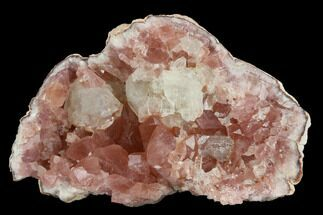 "2.9"" Pink Amethyst Geode Section With Calcite - Argentina For Sale, #127295"