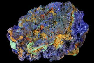 "Buy 2.6"" Sparkling Azurite and Malachite Crystal Cluster - Morocco - #127519"