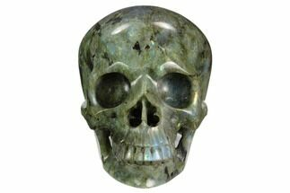 "Buy 5.05"" Realistic, Polished Labradorite Skull - Madagascar - #127573"