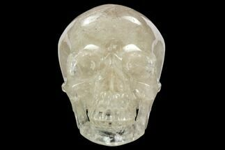 "7.1"" Realistic, Polished Quartz Crystal Skull - Madagascar For Sale, #127583"