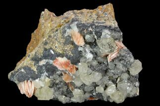 "2.7"" Cerussite Crystals with Bladed Barite on Galena - Morocco For Sale, #128012"