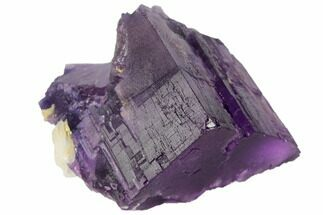 "Buy 2.4"" Purple Fluorite with Bladed Barite - Cave-in-Rock, Illinois - #128362"