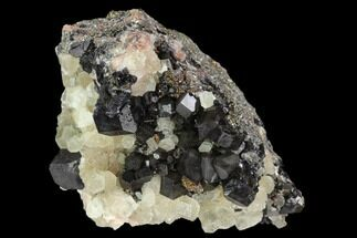 "2.5"" Hexagonal, Columnar Calcite and Fluorite - Fluorescent! For Sale, #128558"