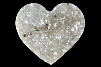 "1.15"" Quartz Crystal Cluster Heart - Uruguay For Sale, #128708"