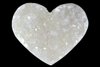 "Buy 1.3"" Quartz Crystal Cluster Heart - Uruguay - #128713"
