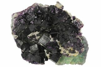 "Buy 4.2"" Dark Purple Cubic Fluorite Crystal Plate - China - #128794"