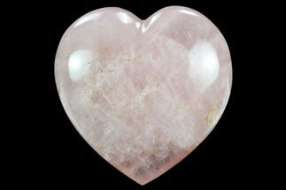 "Buy 4.5"" Polished Rose Quartz Heart - Madagascar - #129037"