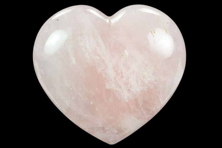 "4.8"" Polished Rose Quartz Heart - Madagascar"
