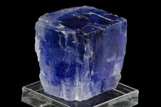 "1.4"" Zoned, Blue Halite Crystal - Igdar, Turkey For Sale, #129065"