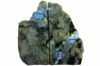 "Buy 8.2"" Polished, Flashy Labradorite Bookends - Madagascar - #129850"