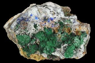 "Buy 4.35"" Malachite Crystal Cluster with Azurite - Morocco - #128173"