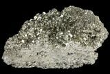 "Large, 10"" Gleaming Pyrite Crystal Cluster - Peru - #131136-2"