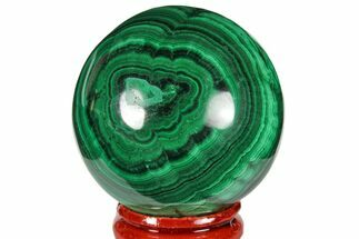 "1.85"" Polished Malachite Sphere - Congo For Sale, #131837"