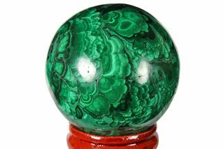 "1.65"" Polished Malachite Sphere - Congo For Sale, #131843"