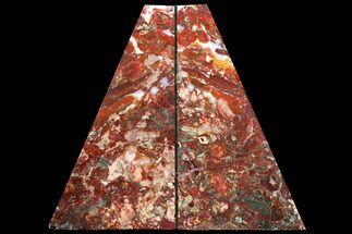 "9.2"" Red/Green Jasper Replaced Petrified Wood Bookends - Oregon For Sale, #131800"