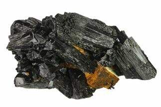 "2.8"" Black Tourmaline (Schorl) Crystals & Goethite - Namibia For Sale, #132221"